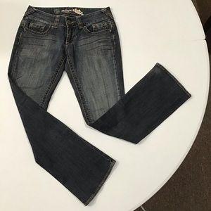 Refuge Premium Distressed Bootcut Jeans